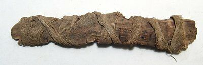 Ancient Egyptian votive 'scroll' wrapped in linen, Roman Period, c. 1st - 2nd