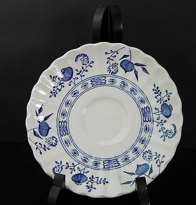 "Blue Nordic Saucers Plates Onion Classic White English Ironstone 6"" Inch"