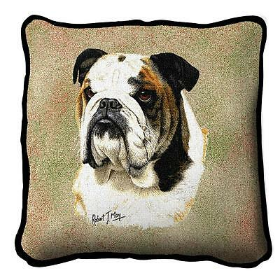 "Bulldog Pillow Pure Country Weavers 17"" x 17""  100% Cotton Dog Breed"