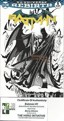 Batman #1 Comic Con Box Exclusive black-and-white AUTOGRAPHED by Barry Kitson