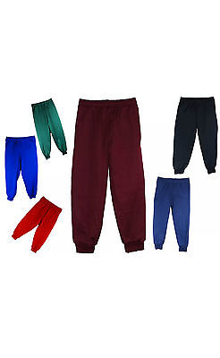 Boys Girls School sports Jogging Bottoms Sweat Pants  (6 colours)