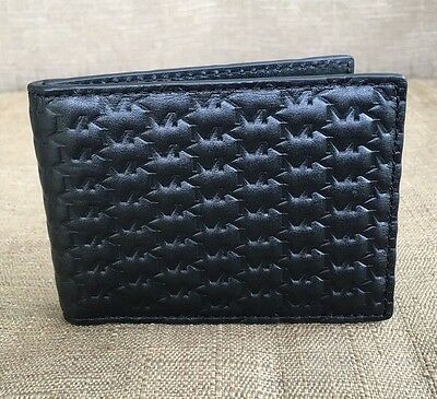 New Michael Kors Men's Signature Embossed  Leather Id  Slim Card Case