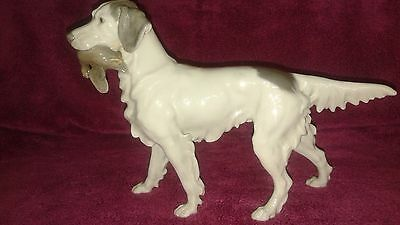 Bing And Grondahl # 2015 English Setter Dog - With Bird-