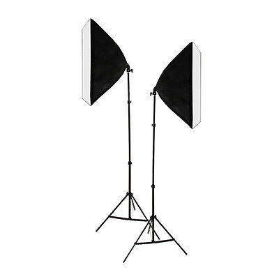 1350W Photo Studio Softbox Continuous Lighting Bulbs Soft Box Light Stand Kit AU