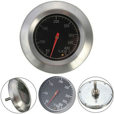 Barbecue BBQ Smoker Grill Oven Stainless Steel Bimetal Dial Thermometer RO