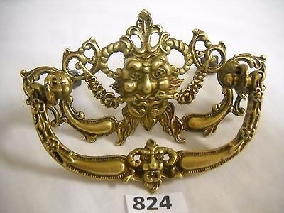 Antique Figural Head Cast Brass Drawer Pull