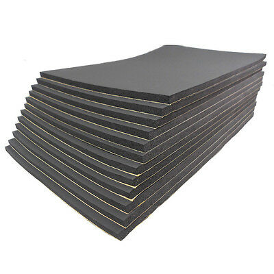 12 Sheets Car Auto Van Sound Proofing Deadening Insulation 10mm Closed Cell Foam