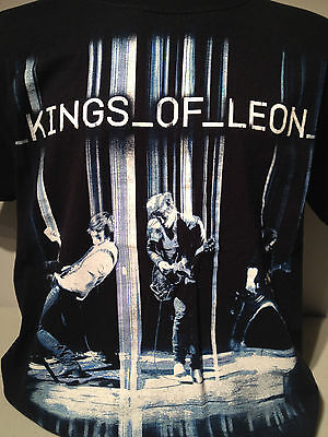 KINGS of LEON Rock Band 2008 Only By the Night Tour Black T Shirt L Followill