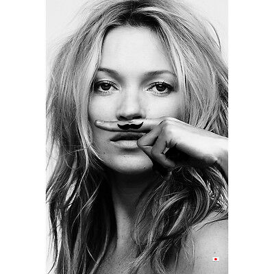 Kate Moss Life Is a Joke Super Model Silk Poster 12x18 24x36 inch Black White