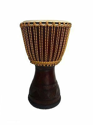 NEW  'Trad' Style (65cmH) Deep Carved Pro Djembe - Head (33cm)