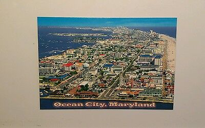 Aerial View over Ocean City, Maryland