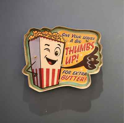 Retro Style Popcorn Thumbs Up Signs LED Light Signboard Club Cafe Decoration