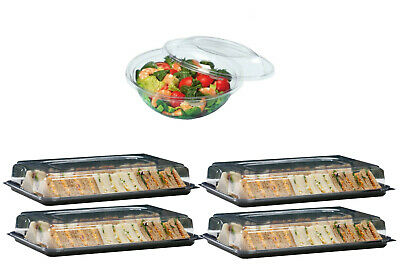Medium Size 5 x Buffet trays with lids 400mm x 300mm approx.