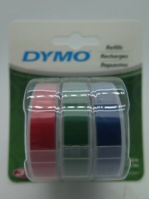 Dymo Xpress Embossing Tape Red Green Blue 9mm x 3M 1741671 BRAND NEW