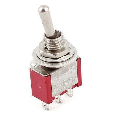 AC 250V/2A 120V/5A ON/ON 2 Position SPDT Mini Micro Toggle Switch Red DW
