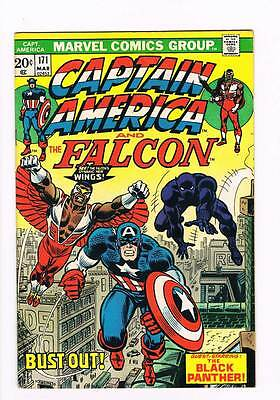 Captain America # 171  The Falcon plus Black Panther !  grade 6.5 scarce book !