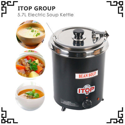 Electric Soup WARMING Kettle boiler stainlesssteel Iron spraying body US stocked