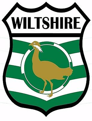 1 x Wiltshire Flag Decal Car Motorbike Laptop Window Sticker - Free P & P