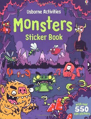Monsters Sticker Book (Usborne Sticker Books),New Condition