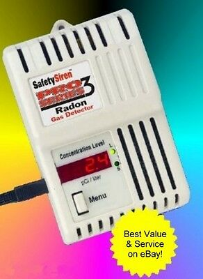 Safety Siren Pro-3 Radon Gas Detector! - FREE SHIPPING within the USA!