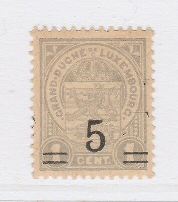 A2P38 LUXEMBOURG 1916-24 SURCH 5c ON 1c MH*