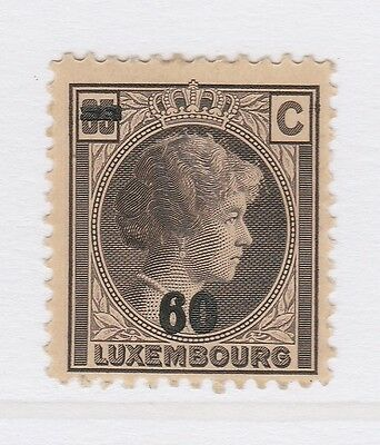 A2P38 LUXEMBOURG 1928-39 SURCH 60c ON 65c MH*