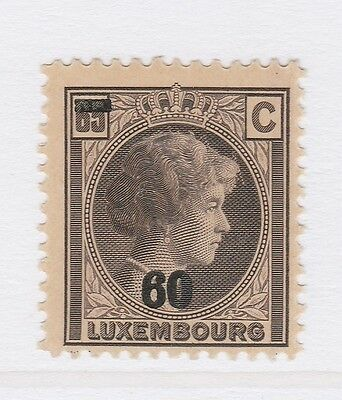 A2P38 LUXEMBOURG 1928-39 SURCH 60c ON 65c MH* #2