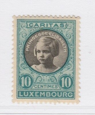 A2P38 LUXEMBOURG SEMI-POSTAL STAMP 1927 10c + 5c MH*