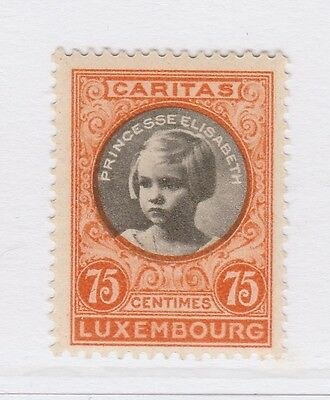 A2P38 LUXEMBOURG SEMI-POSTAL STAMP 1927 75c + 20c MH*