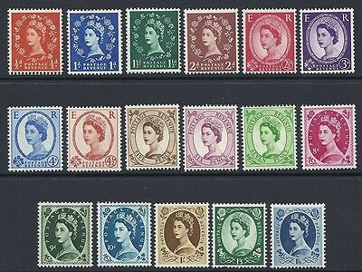 1958-65 Sg 570-586 Multi-Crowns Wilding Basic Set of 17 values UNMOUNTED MINT
