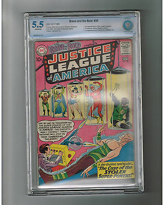 BRAVE & THE BOLD #30 CBCS Grade 5.5 Silver Age DC! 3rd Justice league appearance