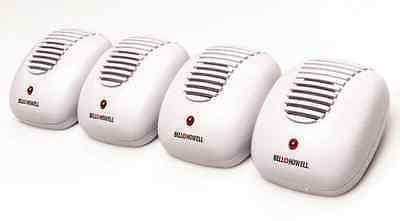 NEW 4 PACK Bell+Howell Ultrasonic Pest Repeller No Harmful Chemicals AC Plug In