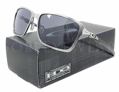 NEW Oakley 6017-01 Tincan Carbon Chrome / Grey Sunglasses