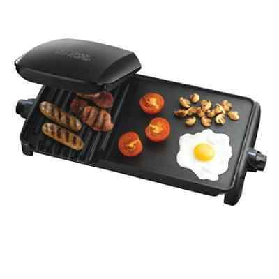 New George Foreman Ten Serving  electric indoor Grill and Griddle - Black