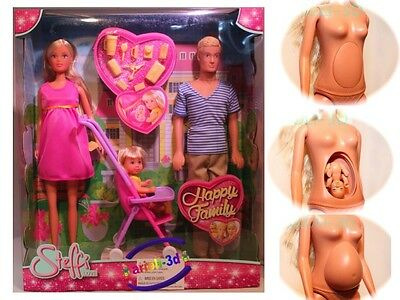 Steffi Love Happy Family Pregnant Doll Poupée Enceinte Barbie New Simba 11,5""