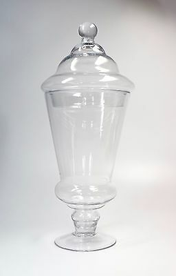 Vintage Clear Glass Apothecary Display Art Retail Store Bridal Buffet Jar 17.5""