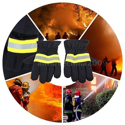 Fire Protective Gloves Anti-fire Equipment Fire Proof Waterproof W/ Strap N6P7