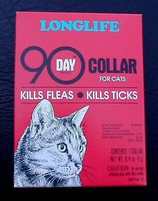 LONGLIFE 90 DAY flea and tick collar for cats (dark pink box)
