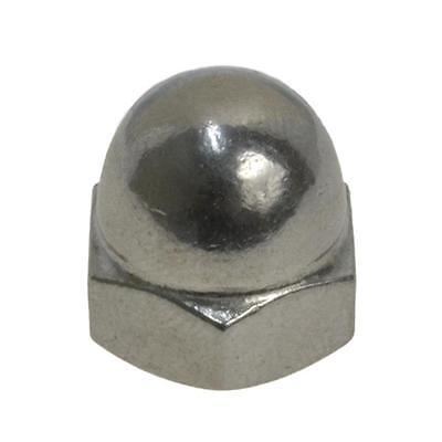 "Qty 2 Dome Nut 1/4"" UNF Imperial Stainless Steel 1 Piece Acorn 304 A2 70 SS"