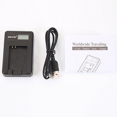 SLB-10A Camera Battery Charger w/ LCD Screen for Samsung PL50 SL102 TL9 WB150F