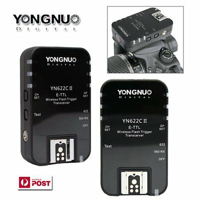 Yongnuo YN-622C II Wireless Flash Trigger TTL for Canon 6D 7D 50D EOS Camera AU