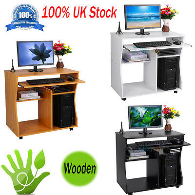 Office Home Computer Table Study Mobile Workstation Folding Laptop Table Desk UK