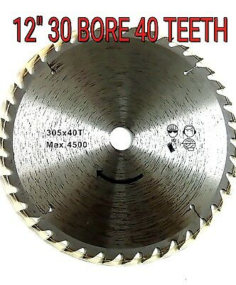 """305mm (12"""") X 30/25.4mm BORE 40T  CIRCULAR SAW BLADE FOR  WOOD CUTTING cutter"""