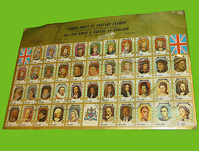 42 STAMPS KINGS AND QUEENS OF ENGLAND from UMM AL QIWAIN IN THE PERSIAN GULF