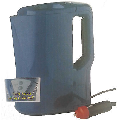 24V Volt LGV HGV Lorry Soft Touch 1L Electric Travel Boiling Water Kettle Blue R