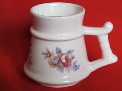 PRINKNASH POTTERY JUG WHITE FLORAL SMALL 70mm TALL