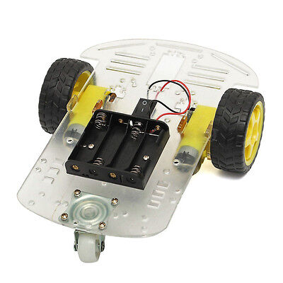 2WD Smart Motor Robot Car Chassis Battery Box Kit Speed Encoder for Arduino DW