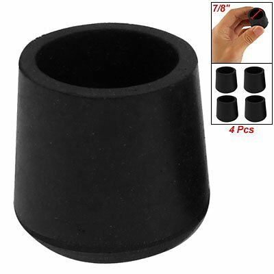 Practical Rubber Black Table Chair Leg Foot Covers Floor Protector 4 Pcs DW