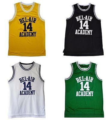 Will Smith Fresh Prince of Bel Air Jersey #14 Carlton Banks Academy #25 S - 2XL