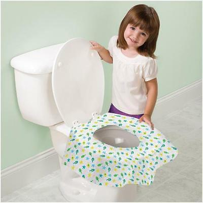 Toddler Toilet Seat Protectors Disposable Cover Travel 10 Pack SI